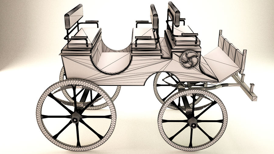 carrozza royalty-free 3d model - Preview no. 6