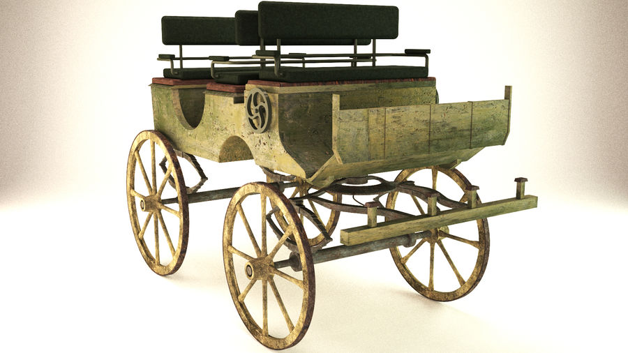 carrozza royalty-free 3d model - Preview no. 2