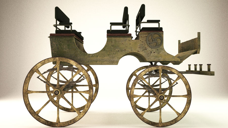 carrozza royalty-free 3d model - Preview no. 1