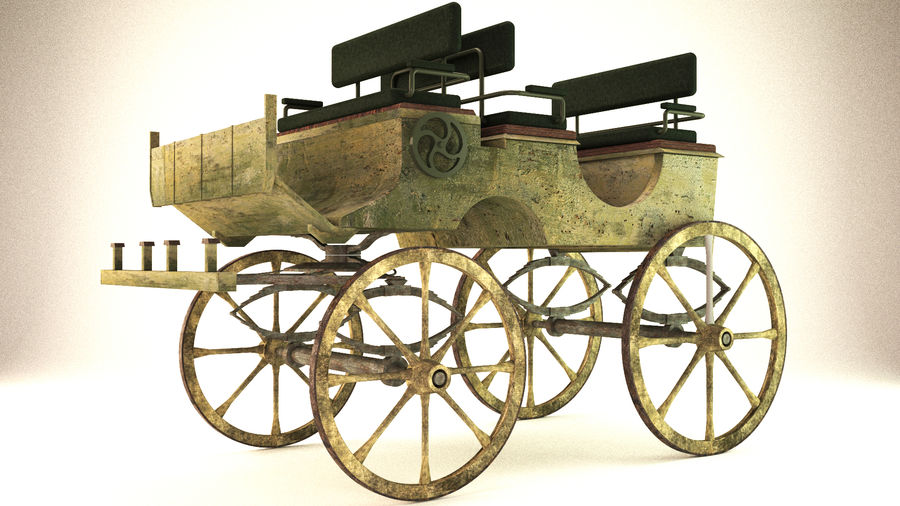 carrozza royalty-free 3d model - Preview no. 3