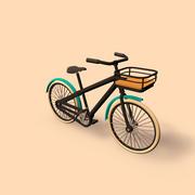 vélo (dessin animé) 3d model