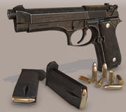 Beretta_M9_CryEngine 5 3d model