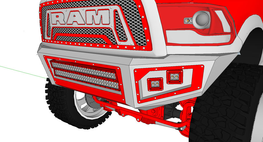 Dodge 2500 royalty-free 3d model - Preview no. 3