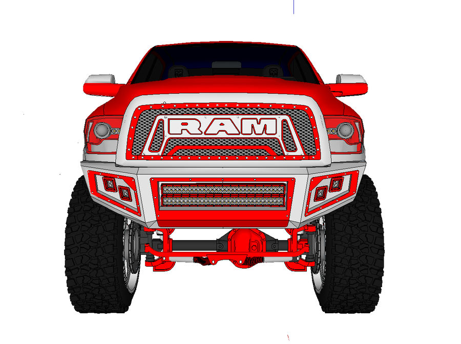 Dodge 2500 royalty-free 3d model - Preview no. 6