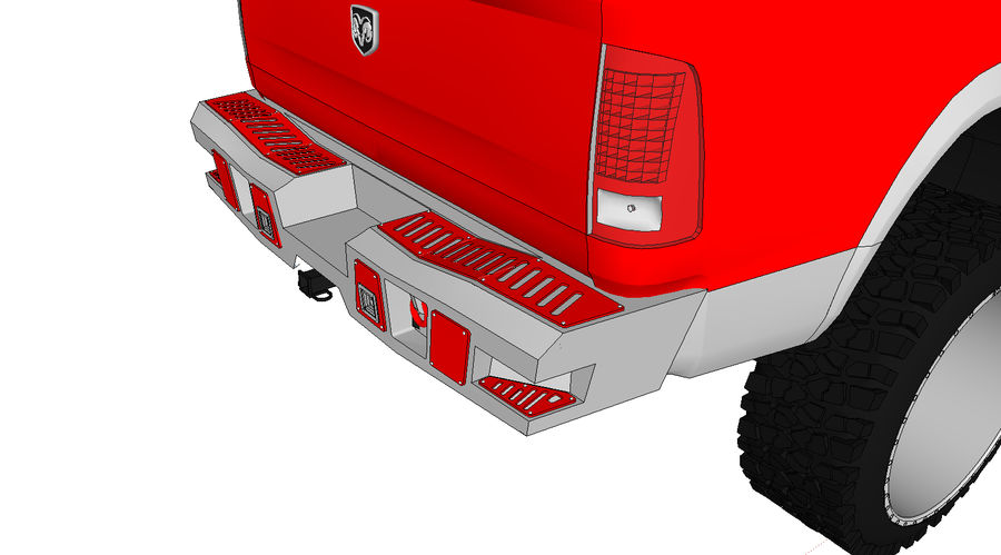 Dodge 2500 royalty-free 3d model - Preview no. 4