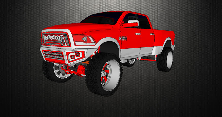 Dodge 2500 royalty-free 3d model - Preview no. 1