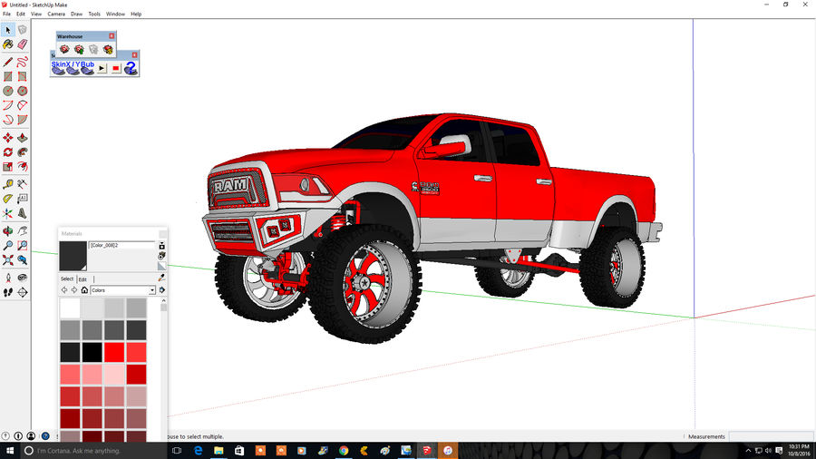 Dodge 2500 royalty-free 3d model - Preview no. 8