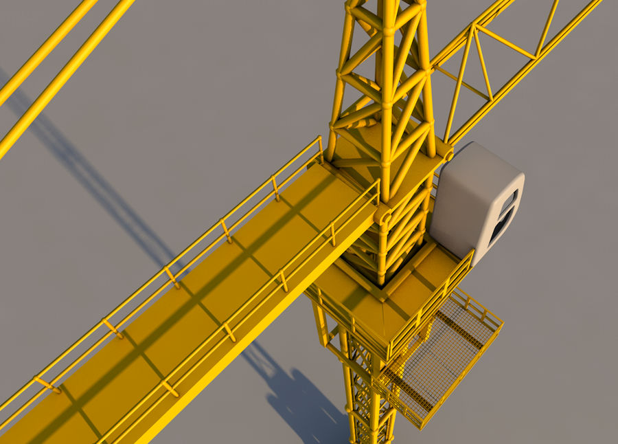 Construction tower crane royalty-free 3d model - Preview no. 5