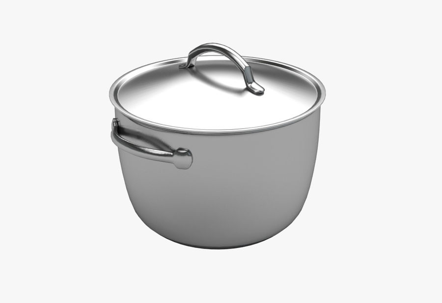 Cooking Pot royalty-free 3d model - Preview no. 1