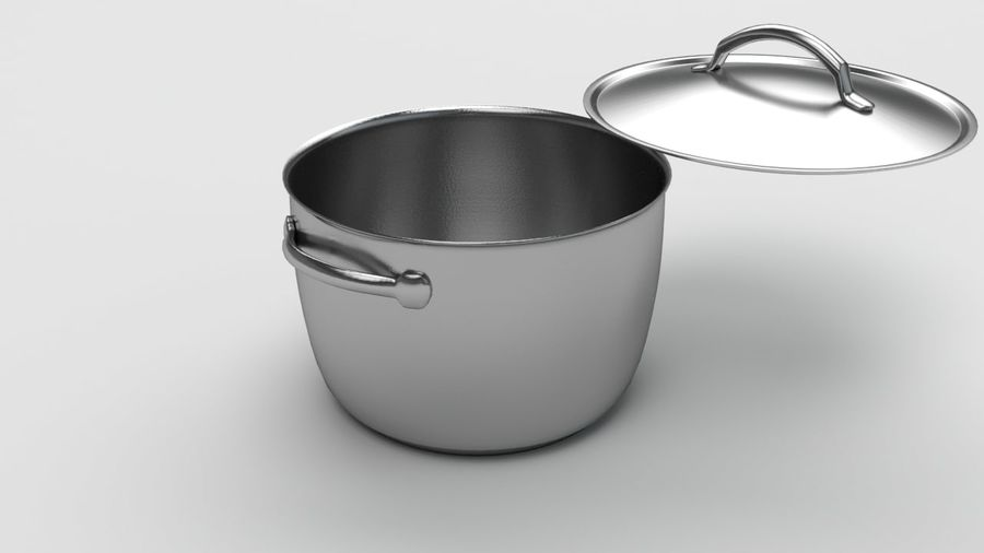 Cooking Pot royalty-free 3d model - Preview no. 3