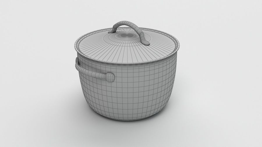 Cooking Pot royalty-free 3d model - Preview no. 4