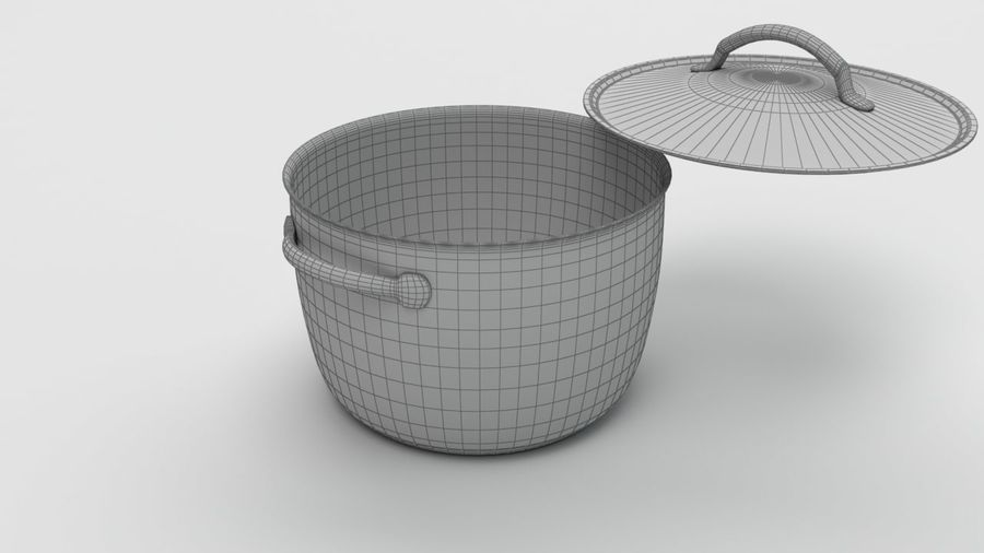 Cooking Pot royalty-free 3d model - Preview no. 5