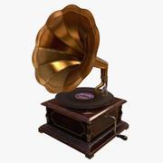 Grammofono (modello pronto per il gioco) 3d model