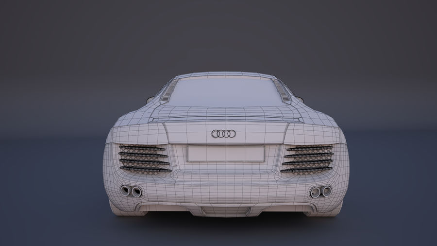 奥迪R8 royalty-free 3d model - Preview no. 6