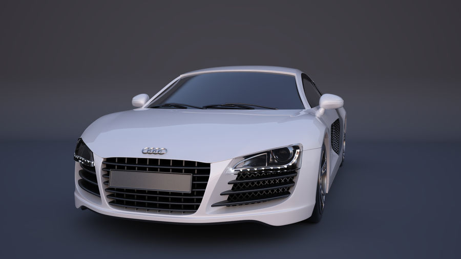 奥迪R8 royalty-free 3d model - Preview no. 3