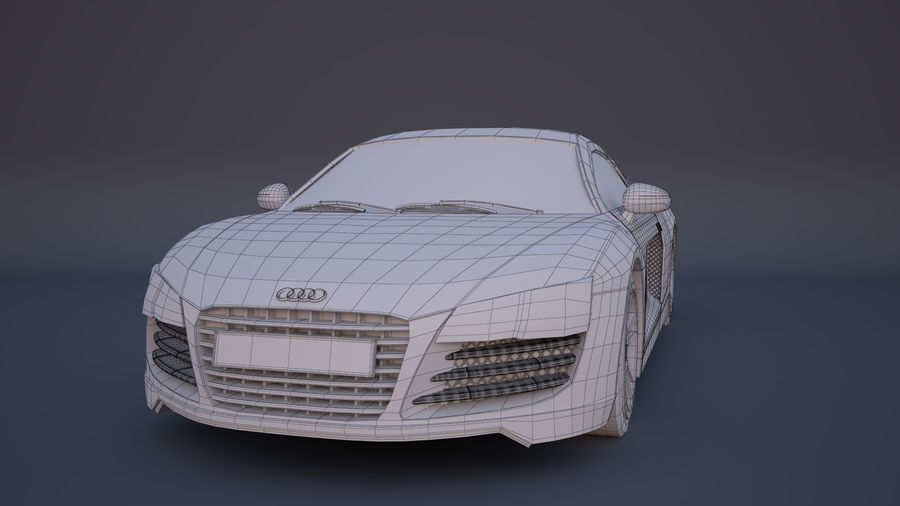 奥迪R8 royalty-free 3d model - Preview no. 5