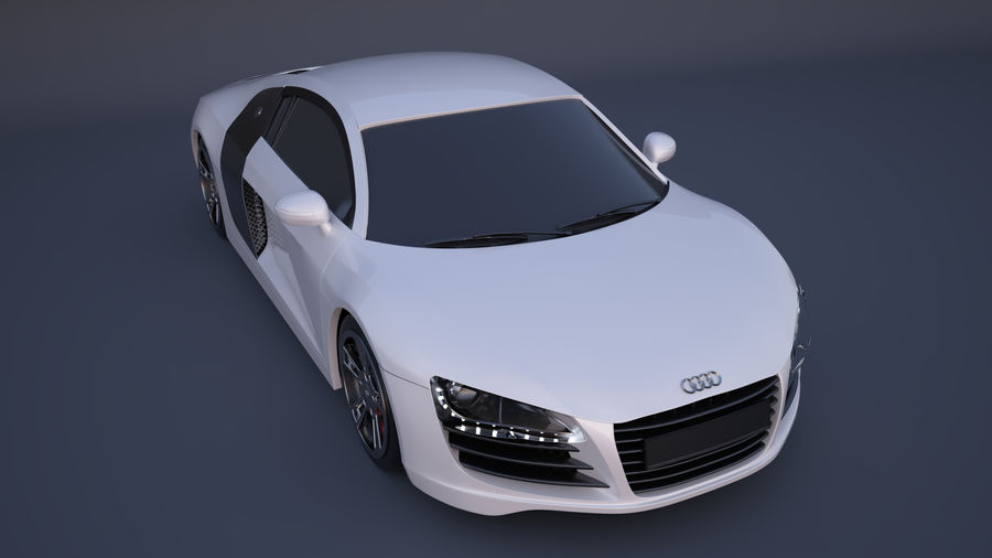 奥迪R8 royalty-free 3d model - Preview no. 7