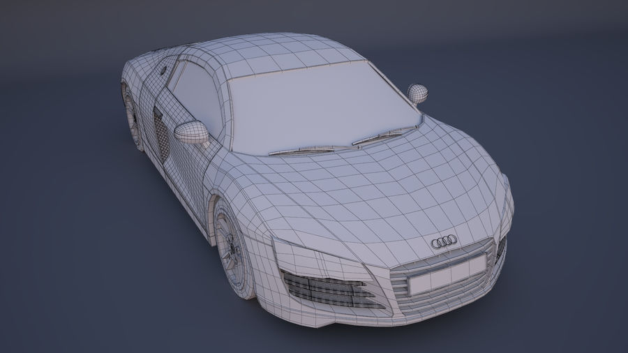 奥迪R8 royalty-free 3d model - Preview no. 9
