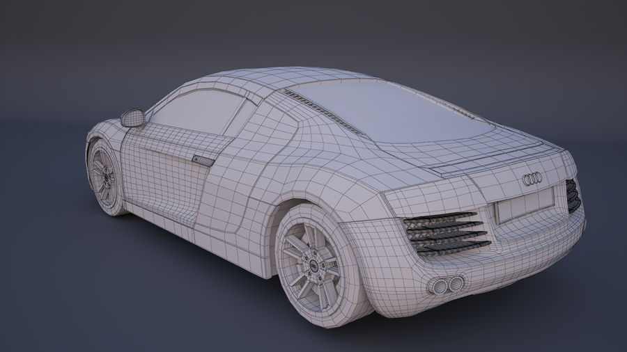 奥迪R8 royalty-free 3d model - Preview no. 10