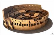 Colosseum, Rom. Låg poly 3d model