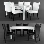 Stół i krzesła Milan 3d model