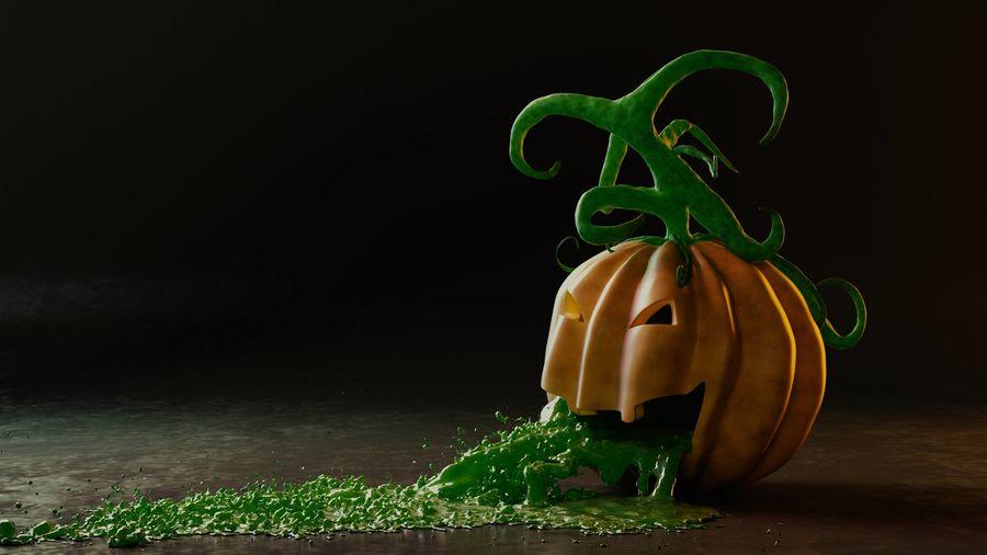 Pumpkin Scene royalty-free 3d model - Preview no. 1