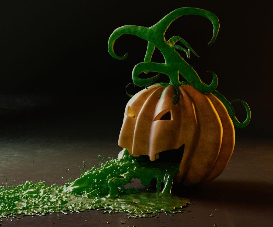 Pumpkin Scene royalty-free 3d model - Preview no. 3
