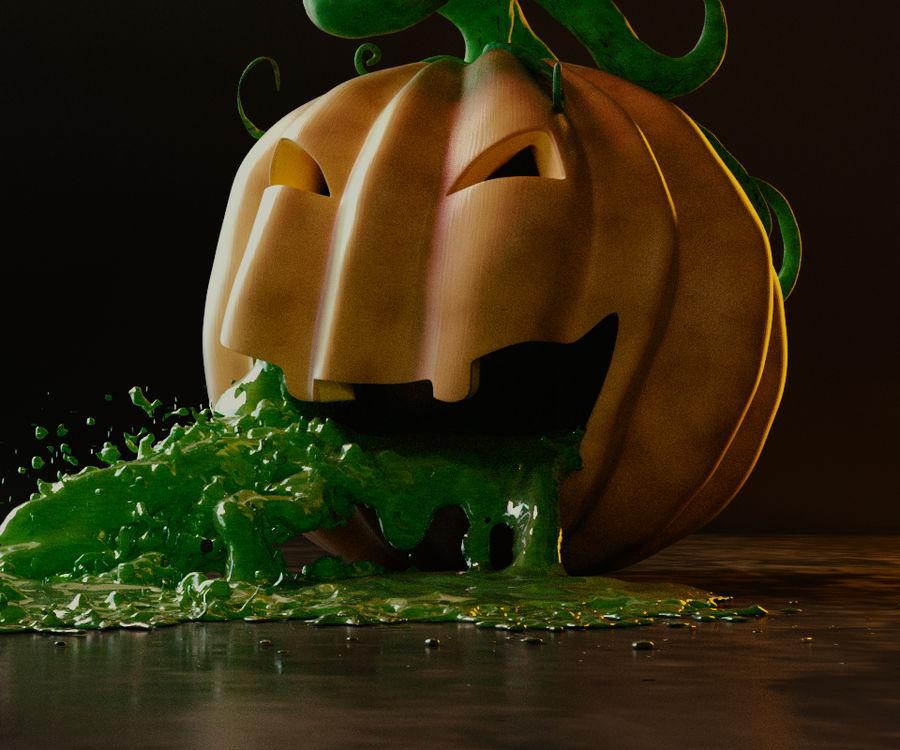 Pumpkin Scene royalty-free 3d model - Preview no. 4