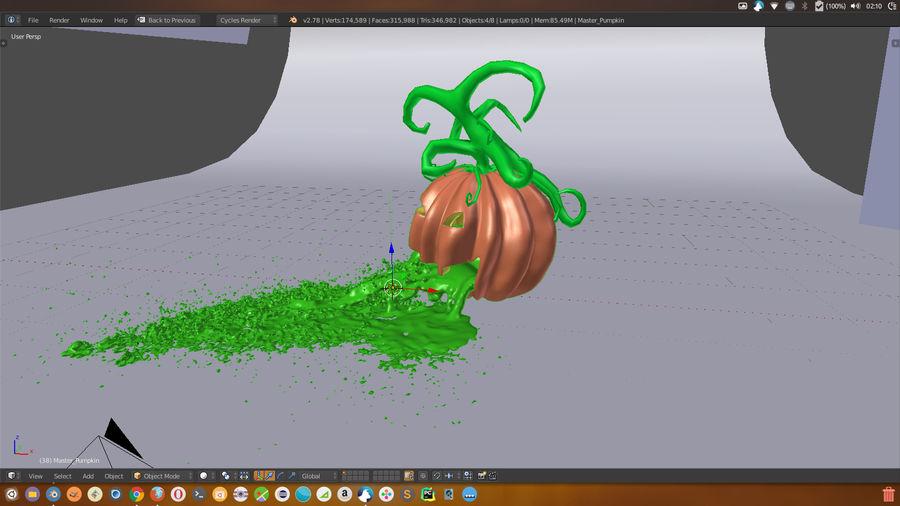 Pumpkin Scene royalty-free 3d model - Preview no. 5