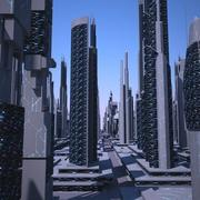 Futurystyczne Miasto 2 3d model