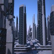 Ciudad futurista 2 modelo 3d