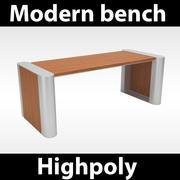 Panchina moderna 3d model