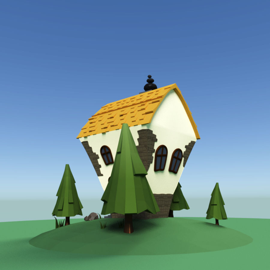 Masal Evi royalty-free 3d model - Preview no. 2