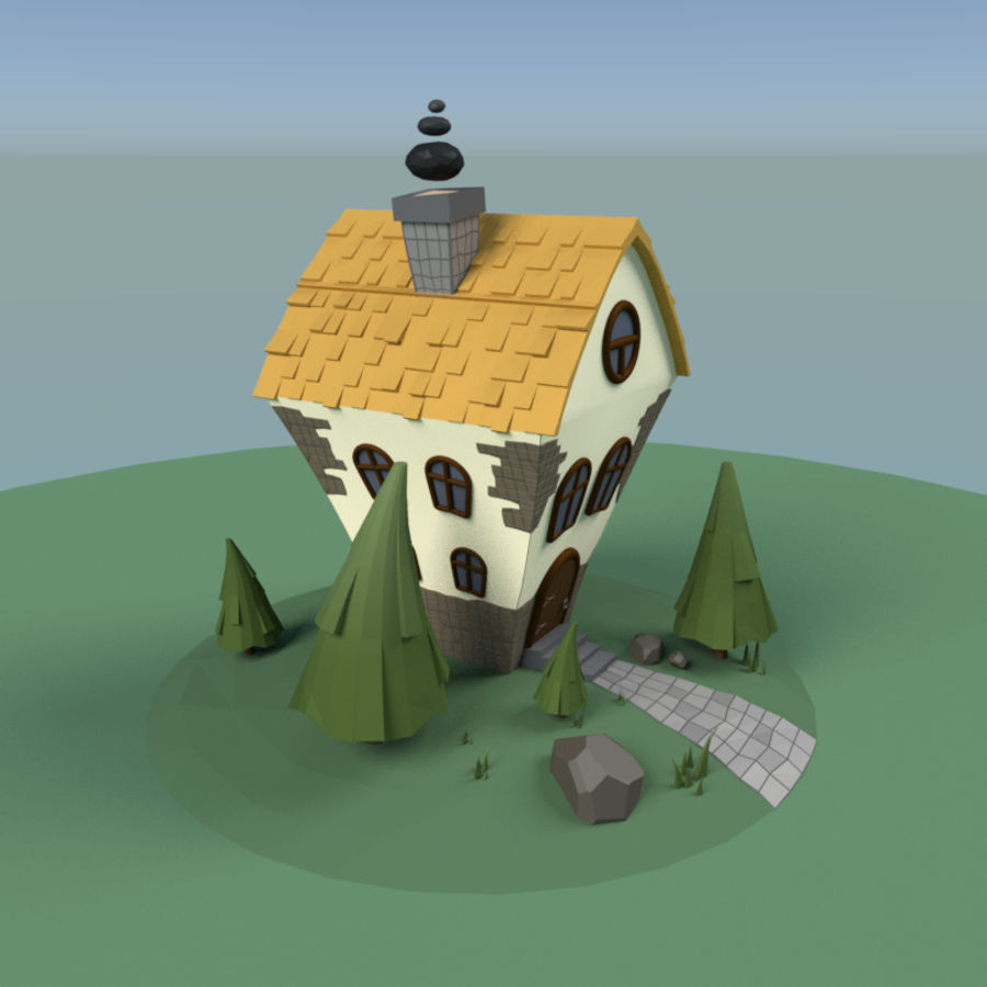 Masal Evi royalty-free 3d model - Preview no. 4