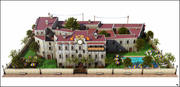 Country Hotel 3d model