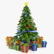 Cartoon Christmas Tree 2 3d model