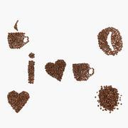 Granos de café - Amo el café modelo 3d