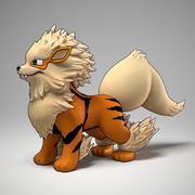Arcanine Pokemon 3d model