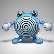 Poliwhirl Pokemon 3d model