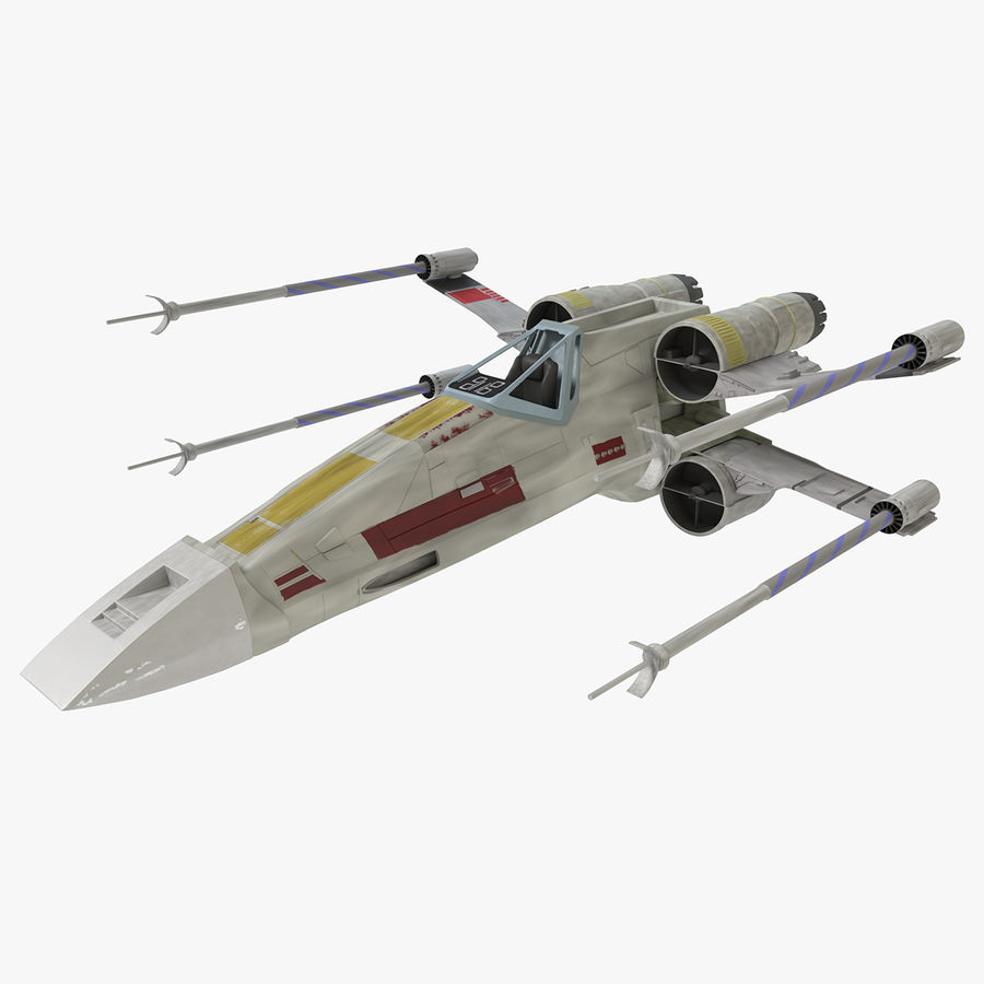 Star Wars X-Wing royalty-free 3d model - Preview no. 1