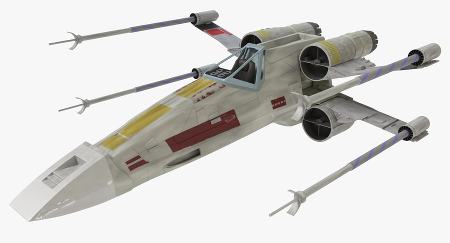 Star Wars X-Wing royalty-free 3d model - Preview no. 2
