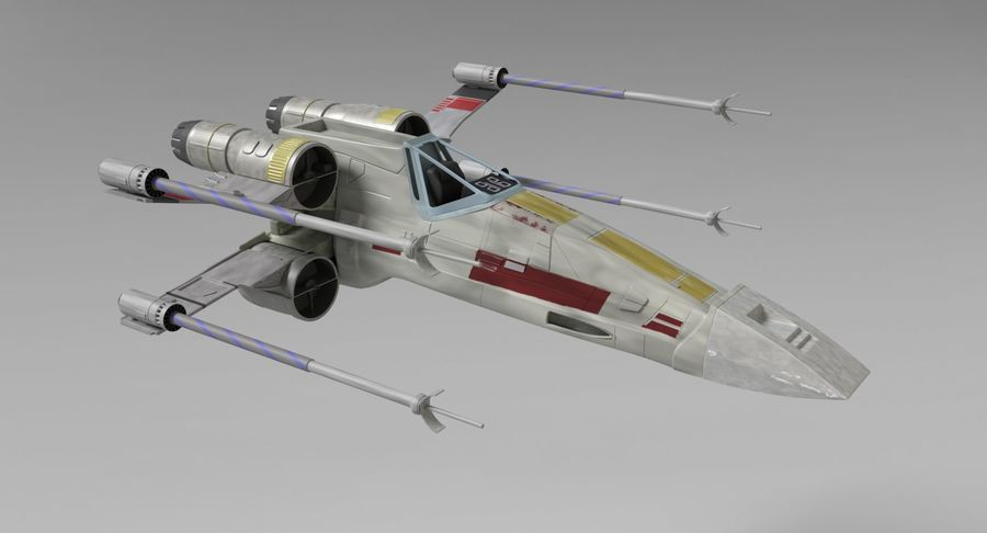 Star Wars X-Wing royalty-free 3d model - Preview no. 5