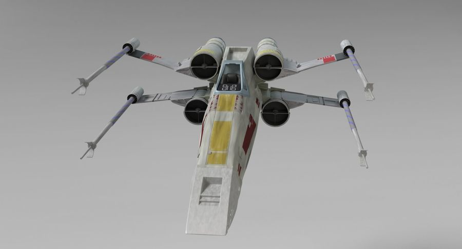 Star Wars X-Wing royalty-free 3d model - Preview no. 4