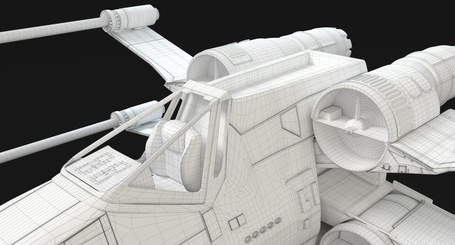 Star Wars X-Wing royalty-free 3d model - Preview no. 11