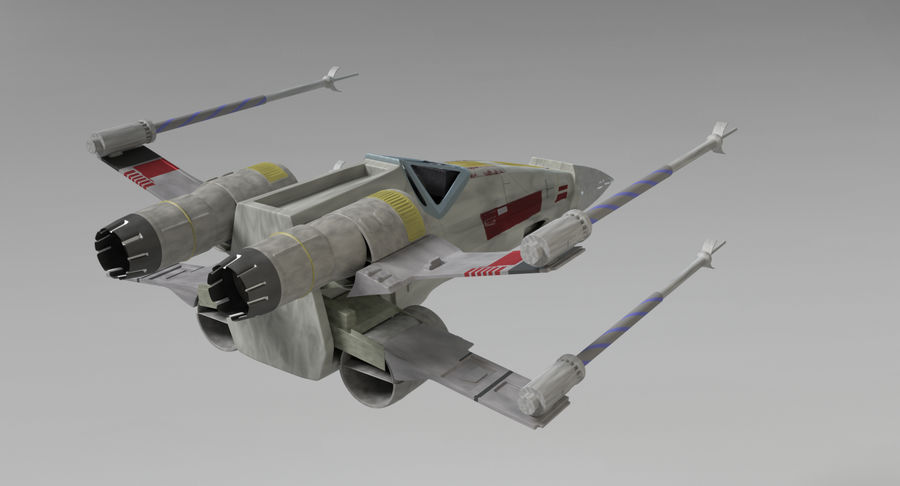 Star Wars X-Wing royalty-free 3d model - Preview no. 6