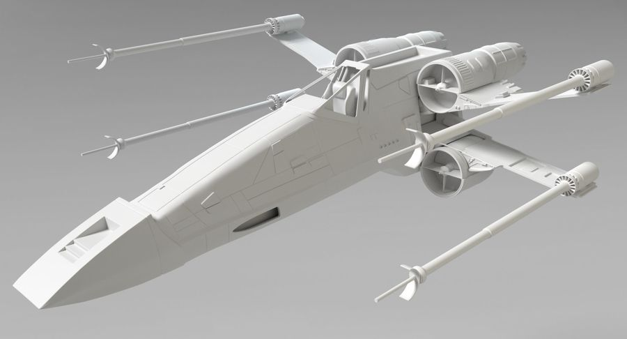 Star Wars X-Wing royalty-free 3d model - Preview no. 9