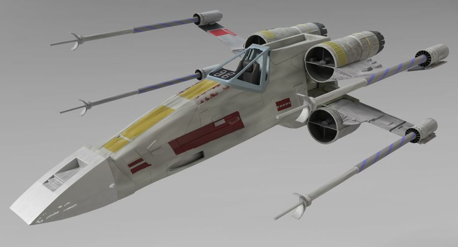 Star Wars X-Wing royalty-free 3d model - Preview no. 3