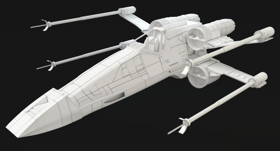 Star Wars X-Wing royalty-free 3d model - Preview no. 10