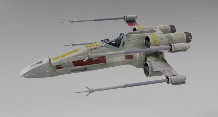 Star Wars X-Wing royalty-free 3d model - Preview no. 8