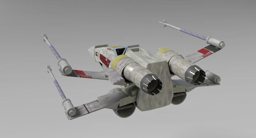 Star Wars X-Wing royalty-free 3d model - Preview no. 7